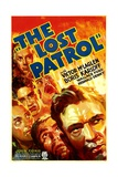 THE LOST PATROL, lower right: Victor McLaglen, 1934. Prints