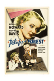 THE PETRIFIED FOREST, top: Bette Davis, bottom from left: Bette Davis, Leslie Howard, 1936. Posters