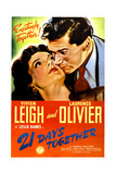 21 DAYS TOGETHER (aka 21 DAYS), US poster, from left: Vivien Leigh, Laurence Olivier, 1940. Posters