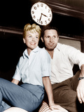 THE PAJAMA GAME, from left: Doris Day, John Raitt, 1957 Photo