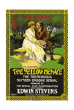 THE YELLOW MENACE, right: Edwin Stevens in 'Episode 10-The Yellow Shadow' on poster art, 1916 Poster