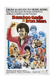 BAMBOO GODS & IRON MEN, US poster, James Iglehart (fist raised), 1974 Prints
