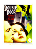 DOUBLE DOOR, from left: Kent Taylor, Evelyn Venable on midget window card, 1934. Prints