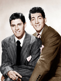 From left: comedy team Jerry Lewis and Dean Martin, ca. 1946 Posters