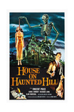 House on Haunted Hill, alternate poster art for Vincent Price classic, 1959 Plakater