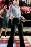 SATURDAY NIGHT FEVER, back to front: Fran Drescher, John Travolta, 1977 Prints