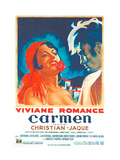 CARMEN, French poster, from left: Viviane Romance, Jean Marais, 1945 Print