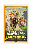 THE WILD WEST SHOW, center: Hoot Gibson, 1928. Art