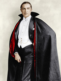 Bela Lugosi dressed in costume for his role in the Broadway play, 'Dracula,' 1927-1928 Posters
