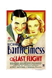 THE LAST FLIGHT, from left: Richard Barthelmess, Helen Chandler, 1931 Prints