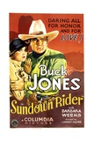 SUNDOWN RIDER, from left: Barbara Weeks, Buck Jones, 1932. Prints