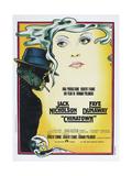 CHINATOWN, Italian poster, from left: Jack Nicholson, Faye Dunaway, 1974 - Reprodüksiyon