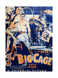 THE BIG CAGE, from left on US poster art: Anita Page, Clyde Beatty, 1933 Posters