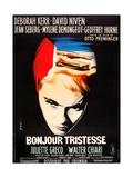 BONJOUR TRISTESSE, French poster art, Jean Seberg, 1958 Print