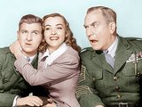 HAIL THE CONQUERING HERO, from left: Eddie Bracken, Ella Raines, William Demarest, 1944 Photo