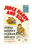 JUDGE HARDY AND SON, Mickey Rooney, 1939 Poster