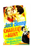 CHARLEY'S AUNT, US poster, Jack Benny, Kay Francis, 1941 Prints