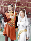 IVANHOE, from left: Robert Taylor, Elizabeth Taylor, 1952 Photo