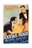 COCKTAIL HOUR, center: Bebe Daniels, right: Randolph Scott on midget window card, 1933. Prints