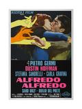 ALFREDO ALFREDO, Italian poster, from left: Stefania Sandrelli, Dustin Hoffman, 1972 Prints