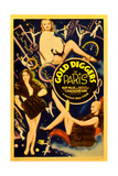 GOLD DIGGERS IN PARIS, poster art, 1938. Posters