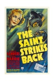 THE SAINT STRIKES BACK, top from left: Wendy Barrie, George Sanders, 1939. Prints