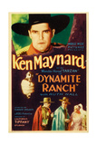 DYNAMITE RANCH, top: Ken Maynard on midget window card, 1932. Prints