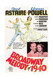 BROADWAY MELODY OF 1940, l-r: Fred Astaire, Eleanor Powell on poster art, 1940. Kunst
