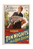 TEN NIGHTS IN A BARROOM, poster art, 1931. Prints