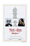 SLEEPER, US poster, Woody Allen, Diane Keaton, 1973, Art