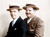 From left: Stan Laurel, Oliver Hardy, [aka Laurel & Hardy], in an early Hal Roach studio portrait Prints