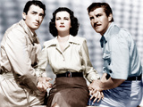 THE MACOMBER AFFAIR, from left: Gregory Peck, Joan Bennett, Robert Preston, 1947 Print