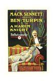 A HAREM KNIGHT, Ben Turpin, top; Madeline Hurlock, bottom, 1926. Art