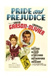 PRIDE AND PREJUDICE, from left: Greer Garson, Laurence Olivier, 1940. Print
