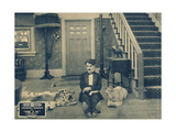 ONE A.M., Charlie Chaplin on lobbycard, 1916 Posters