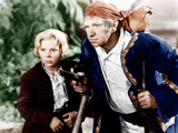 TREASURE ISLAND, from left: Jackie Cooper, Wallace Beery, 1934, Photo