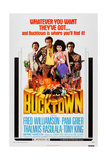 BUCKTOWN, from left: Thalmus Rasulala, Fred Williamson, Pam Grier, Tony King, 1975 Print