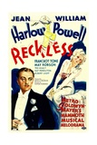 RECKLESS, William Powell, Jean Harlow, 1935 Posters