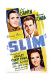 SLIM, US poster art, from top: Pat O'Brien, Henry Fonda, Margaret Lindsay, 1937 Prints