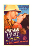 THE WOMAN I STOLE, from left: Jack Holt, Fay Wray on midget window card, 1933. Prints