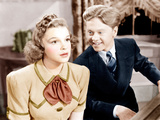 STRIKE UP THE BAND, from left: Judy Garland, Mickey Rooney, 1940 Photo