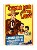 THE CISCO KID AND THE LADY, from left: Cesar Romero, Marjorie Weaver on midget window card, 1939. Affiches