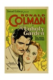 THE UNHOLY GARDEN, from left: Ronald Colman, Fay Wray, 1931. Prints