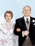 FATHER OF THE BRIDE, from left: Elizabeth Taylor, Spencer Tracy, 1950 Prints