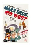 GO WEST, Groucho Marx, Harpo Marx, Chico Marx, Diana Lewis, 1940 Prints