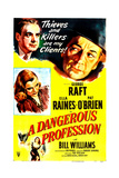 A DANGEROUS PROFESSION Posters