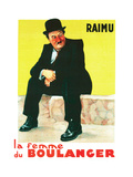 THE BAKER'S WIFE, (aka LA FEMME DU BOULANGER), French poster art, Raimu, 1938 Art
