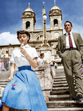 ROMAN HOLIDAY, from left: Audrey Hepburn, Gregory Peck, 1953 Poster