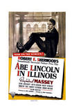 ABE LINCOLN IN ILLINOIS, US poster, Raymond Massey, 1940 Posters