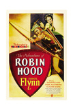 THE ADVENTURES OF ROBIN HOOD, Errol Flynn, Olivia De Havilland, 1938 Poster